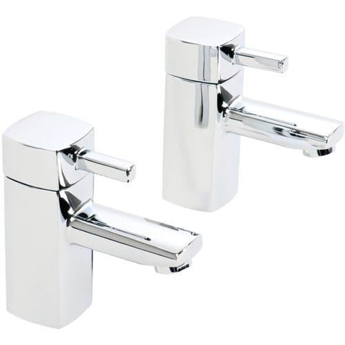 Jupiter Nero Minimalist Bath Sink Hot and Cold Bathroom Faucet Mixer Taps (Pair) NER005