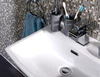Jupiter New York Chrome Mono Waterfall Basin Mixer Tap with Push Button Waste
