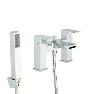 Jupiter New York Chrome Waterfall Bath Shower Mixer