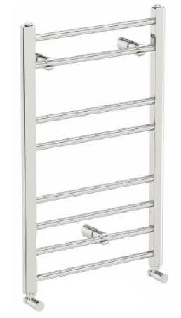 Jupiter Preston Chrome Vertical Designer Towel Ladder Rail Radiator L 800mm x W 500mm
