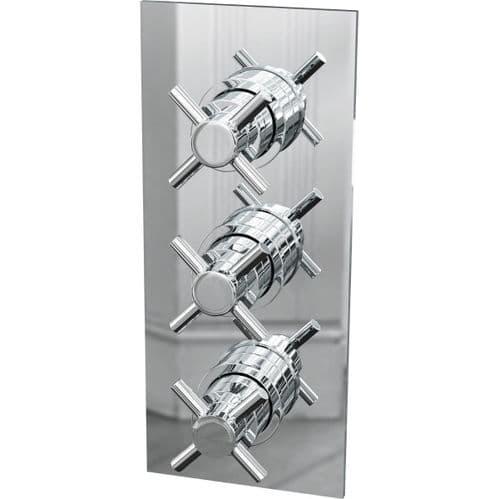 Jupiter Reno Traditional Triple Crosshead Handles Concealed Shower Valve - Chrome CVT003
