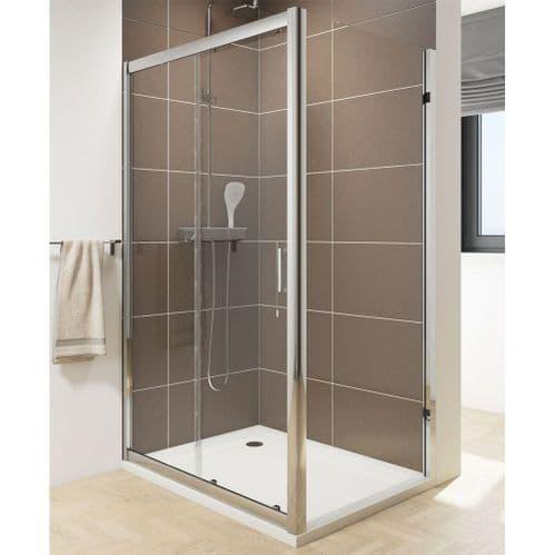 Jupiter Seis Easy Fit 1500mm Sliding Door Shower Enclosure 6mm Easyclean Glass - SLD150