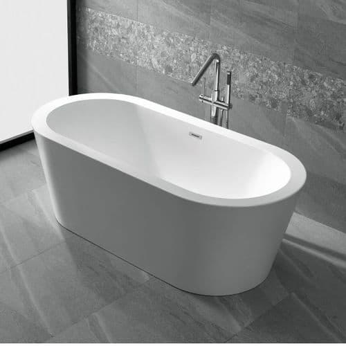 Jupiter Siena White Large 1700mm x 800mm Double Ended Freestanding Bath