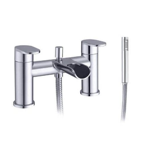 Jupiter Spa Chrome Waterfall Bath Shower Mixer - TF2001