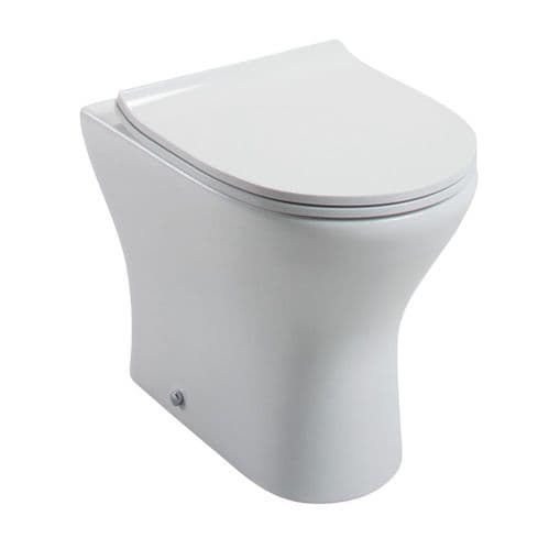 Jupiter Spek BTW WC Toilet With Slimline Top Fix, Soft Close Quick Release Seat - SPEK004