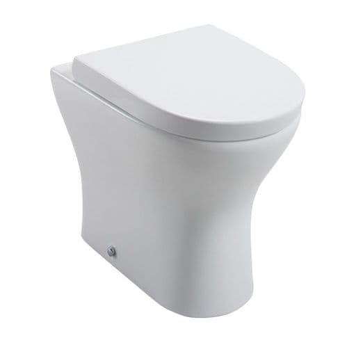 Jupiter Spek BTW WC Toilet With Wrapover Top Fix, Soft Close Quick Release Seat - SPEK007