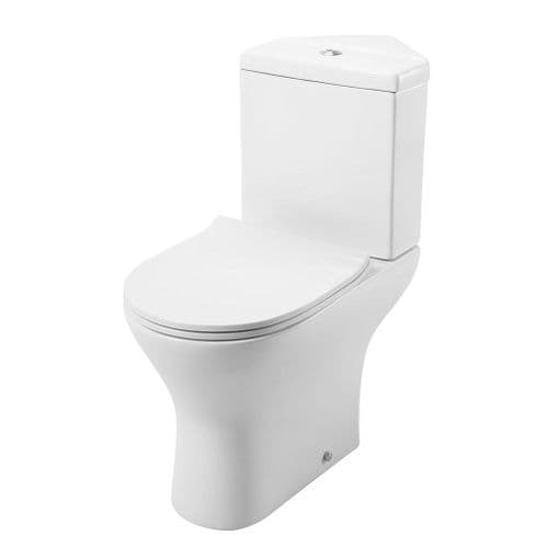 Jupiter Spek Corner Toilet Close Coupled Cistern and Pan with Slimline Seat - SPEK010