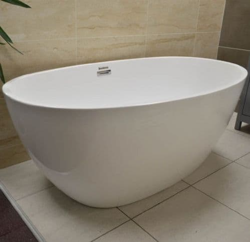 Jupiter Venice Plus Designer 1500mm x 800mm Double Ended Small Freestanding Bath