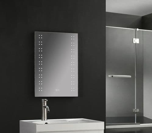 Jupiter Verona LED Backlit Bluetooth Bathroom Mirror  500mm x 700mm with Touch Button
