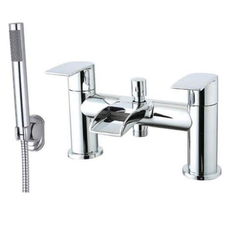 Jupiter Vigo Chrome Two Handle Waterfall Bath Shower Mixer VIG002