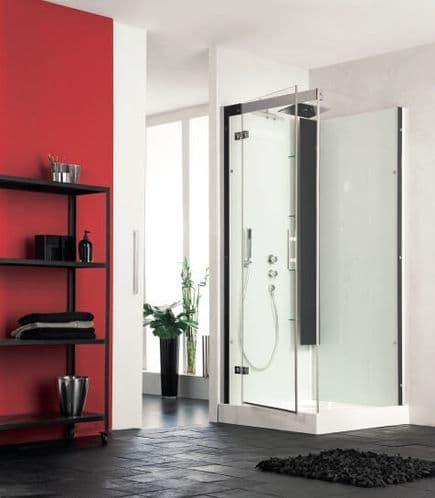Kinedo Horizon Corner Watertight Pivot Door Shower Cubicle / Pod 1100mm x 800mm