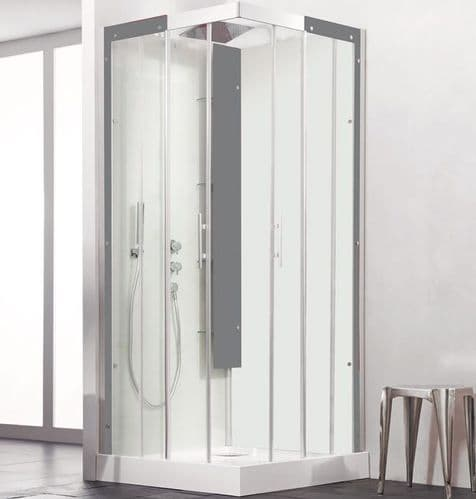 Kinedo Horizon Corner Watertight Sliding Door Shower Cubicle / Pod 800mm x 800mm