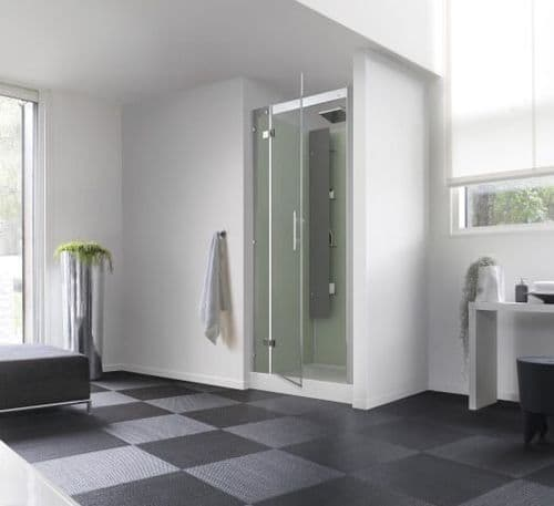 Kinedo Horizon Recess Watertight Pivot Door Shower Cubicle / Pod 900mm x 900mm