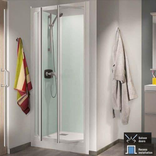 Kinedo Kineprime Recess Saloon Door Shower Pod 800mm x 800mm
