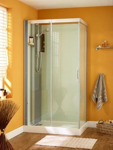 Kinedo Moonlight Watertight Saloon Door Shower Pod Cubicle 1100mm x 800mm