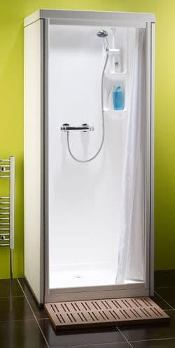Kubex Kingston Compact Leak Proof Pre - Assembled Shower Cubicle with Curtain Door 700mm x 705mm