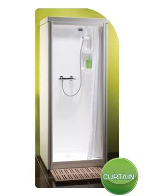 Kubex Kingston Leak Proof Pre - Assembled Shower Cubicle with Curtain Door 785mm x 705mm