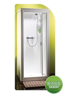 Kubex Kingston Leak Proof Pre - Assembled Shower Pod Cubicle with Bi - Fold Door 785mm x 705mm