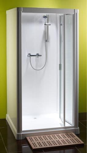 Kubex Profile 900 Leak Proof  Shower Cubicle with Bi Fold  Door 970mm x 970mm