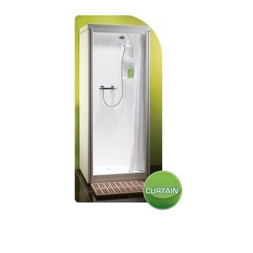Kubex Profile 900 Leak Proof Shower Cubicle with Curtain Door 970mm x 970mm