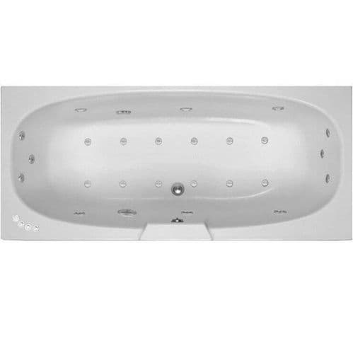 Lisna Waters Acer 1700mm x 750mm Double Ended Whirlpool Bath & Air Spa Bath 24 Jet Encore System