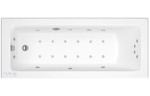 Lisna Waters Florence 1500mm x 700mm Single Ended Whirlpool Bath 24 Jet Encore System