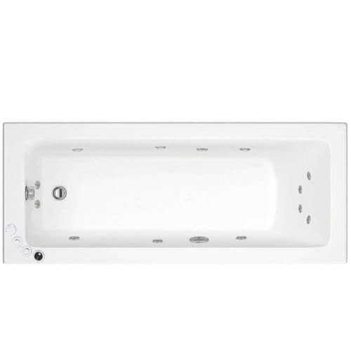 Lisna Waters Florence 1600mm x 700mm Single Ended Whirlpool Bath 12 Jet Encore System