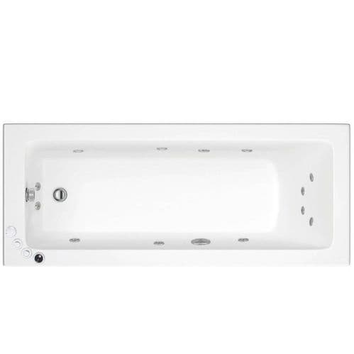 Lisna Waters Florence 1700mm x 750mm Single Ended Whirlpool Bath 12 Jet Encore System