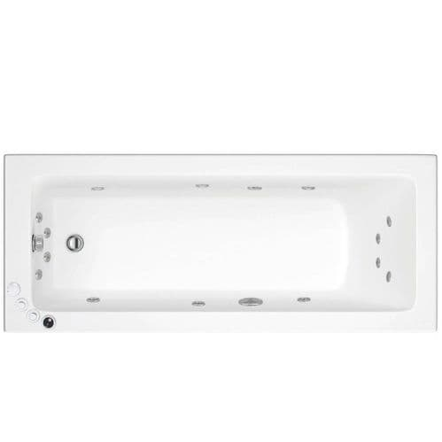 Lisna Waters Florence 1800mm x 800mm Single Ended Whirlpool Bath 14 Jet Encore System