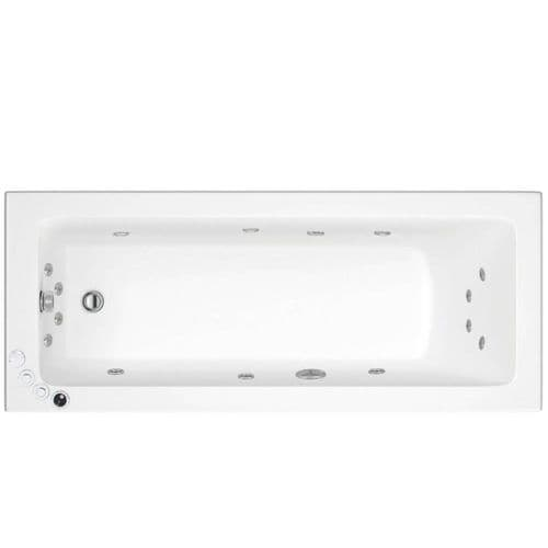 Lisna Waters Florence 1600mm x 700mm Single Ended Whirlpool Bath 24 Jet Encore System