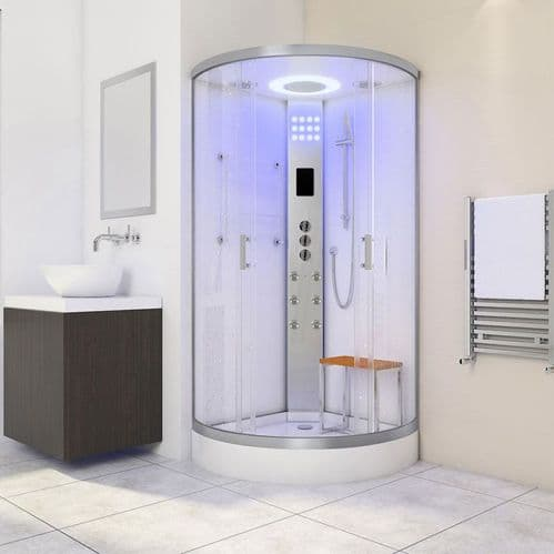Lisna Waters LW11 900mm x 900mm - White - Quadrant Shower Cabin