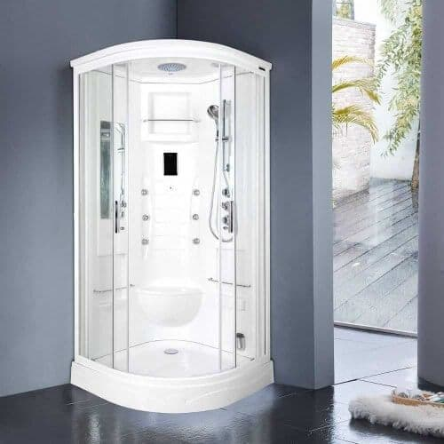 Lisna Waters  Florenta Quadrant Steam Shower Enclosure Cabin 900mm x 900mm | Jtspas