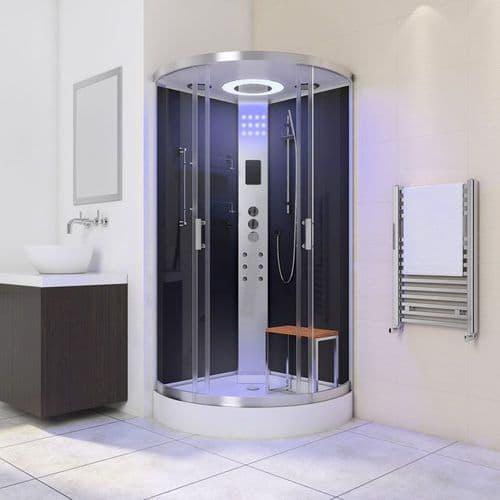 Lisna Waters LW31 800mm x 800mm Black Quadrant Shower Cabin