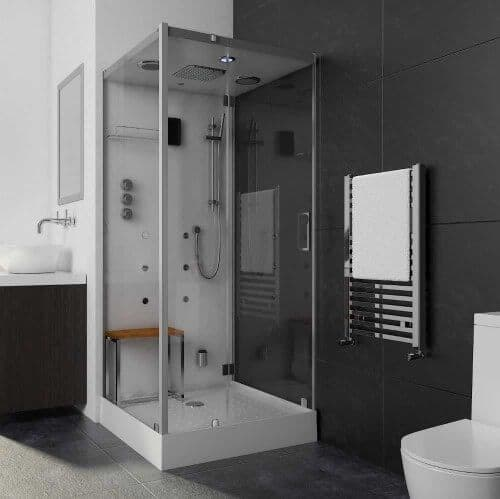 Lisna Waters LW5 900mm x 900mm Square Hinged Door Steam Shower