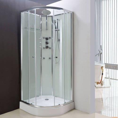 Lisna Waters Olympia Black 1000mm x 1000mm Hydro Massage Shower Cabin LW14-B