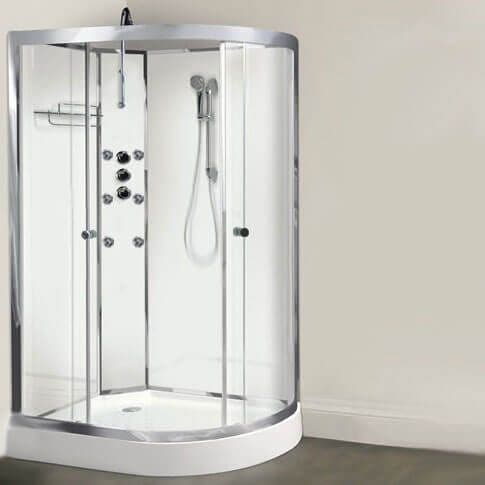 Lisna Waters Olympia White 1200mm x 800mm Left Hand Hydro Massage Shower Cabin LW13-L