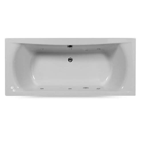 Lisna Waters Victoria 1500mm x 700mm Double Ended Whirlpool Bath 6 Jet Encore System