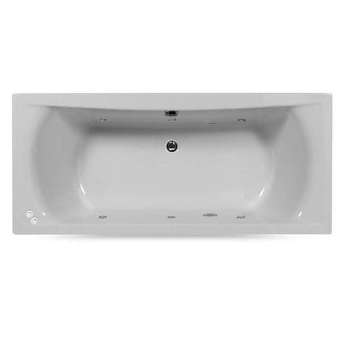 Lisna Waters Victoria 1700mm x 700mm Double Ended Whirlpool Bath 6 Jet Encore System