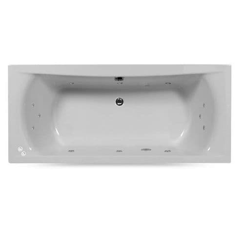Lisna Waters Victoria 1700mm x 750mm Doubled Ended Rectangular 12 Jet Encore Whirlpool Bath