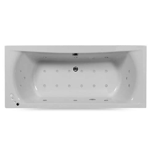 Lisna Waters Victoria 1700mm x 750mm Doubled Ended Rectangular 24 Jet Encore Whirlpool Bath