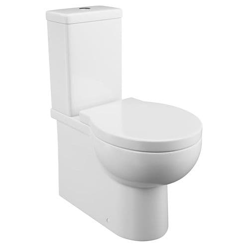 Modern Jupiter Wharfe Comfort Height Fully Cloaked Pan, Cistern With Soft Close Seat - WHA001