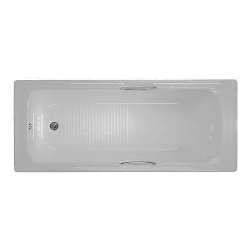 Moods 1700mm x 700mm Granada II Straight 5mm Twin Grip Single Ended Bath
