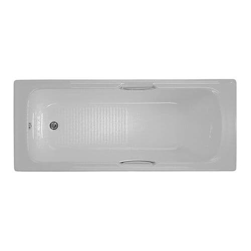 Moods 1700mm x 700mm Granada Straight Twin Grip Single Ended Bath Textured Base 8mm