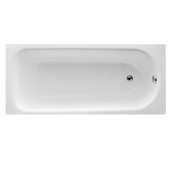 Moods Eurowa 1700mm Single Ended Steel Bath with 2 Tap Holes - DIBR2022
