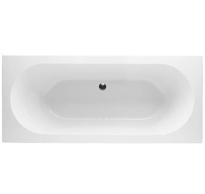 Moods Finesse Luxury Double Ended Bath with 0 Tap Holes -  1700mm x 750mm - QSRV54601