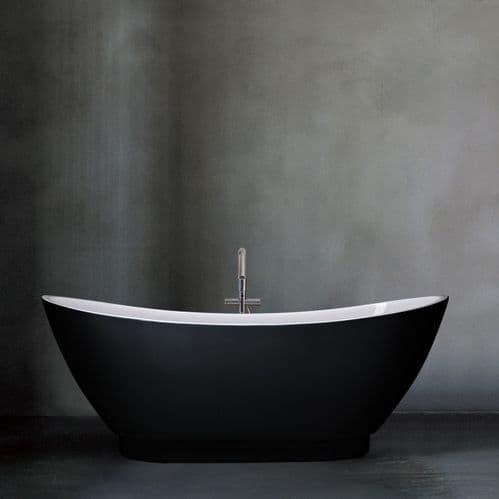 Paris Black 1750mm x 750mm Stand Alone Freestanding Bath