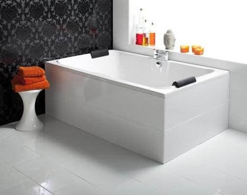 Portofino 14 Jet Whirlpool Bath 1800mm x 1150mm Lucite Double  Ended 2 Person Inset Bath