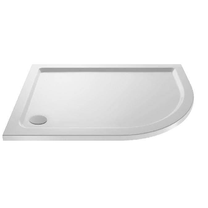Premier Pearlstone  Offset Quadrant Slimline Stone Shower Tray Right Hand  1000 x 800mm
