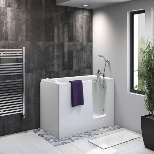 Priya Right Hand Easy Access Deep Soaker Walk In Bath 1210mm x 650mm