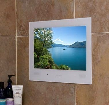 "ProofVision 19"" Premium Widescreen Waterproof Bathroom TV WHITE"